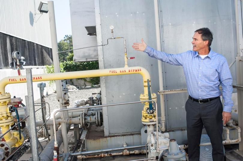 Dr. Jack Brouwer, associate director of the National Fuel Cell Research Center explains how UC Irvine pumping hydrogen into the existing natural gas pipelines on Wednesday, November 2, 2016. (Photo by Nick Agro, Orange County Register/SCNG)