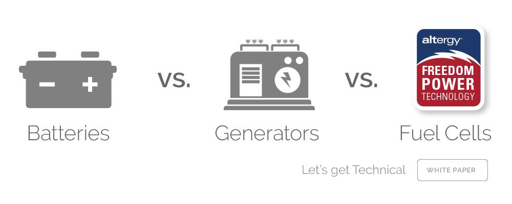 Batteries vs Generators vs Fuel-Cells