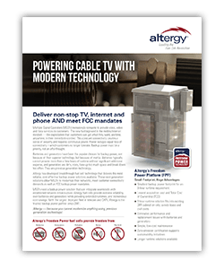 Altergy Cable Data Sheet ATP Web